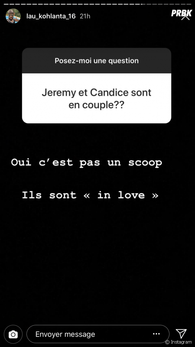 Candice (Koh Lanta All Stars) et Jérémy en couple : Lau confirme