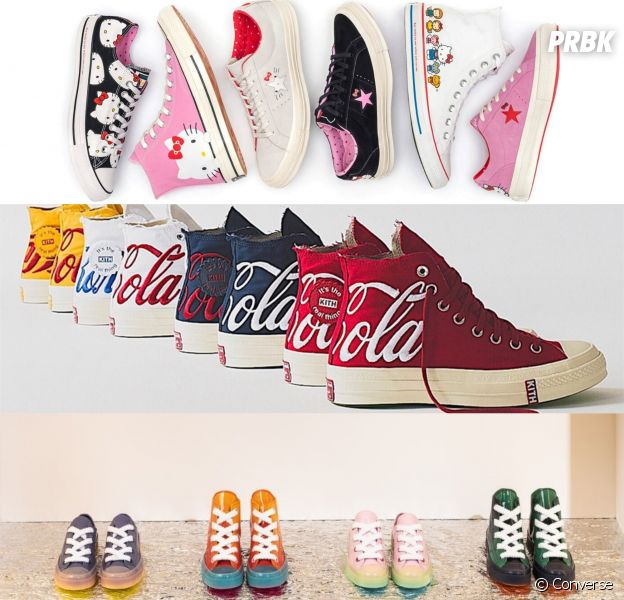 Converse : Hello Kitty, Coca Cola et JW Anderson, les trois