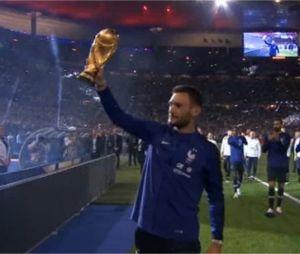 Hug Lloris présente la Coupe du Monde au Stade de France le 9 septembre 2018