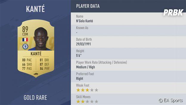 FIFA 19 : la note de N'Golo Kanté