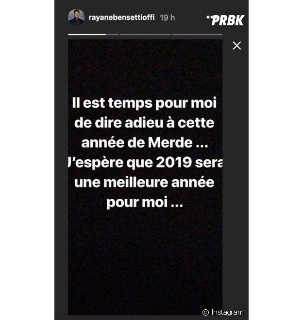 """Rayane Bensetti dans le mal pour le nouvel an : """"C'est dur à gérer"""""""