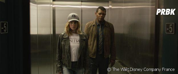 Captain Marvel : Brie Larson et Samuel L. Jackson