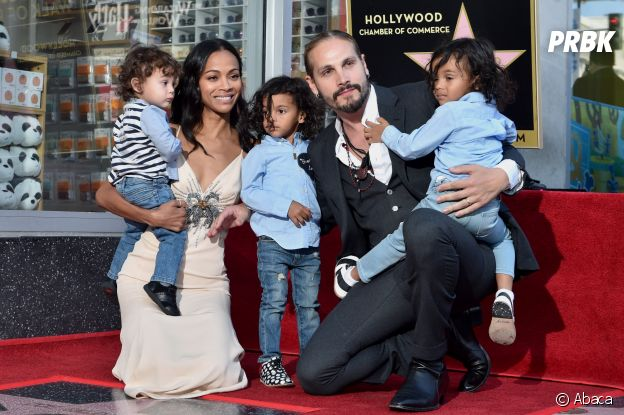 Zoe Saldana avec son mari et ses enfants