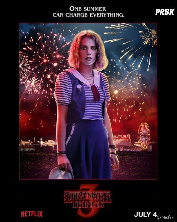 Stranger Things saison 3 : l'affiche de Robin jouée par Maya Hawke