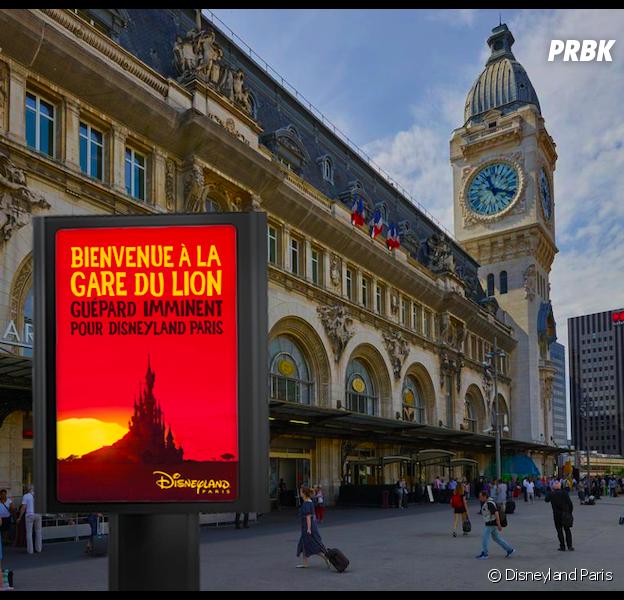 Quand Disney transforme la gare de Lyon en gare du Lion pour célébrer Simba