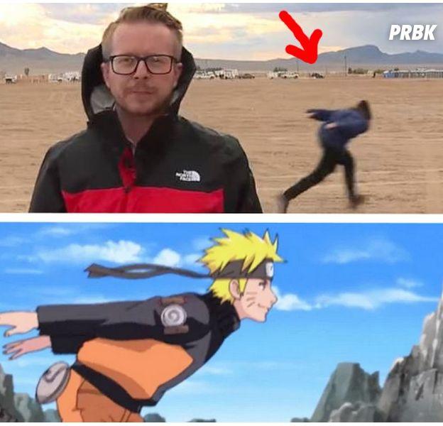 """Naruto : un homme utilise la """"Naruto Run"""" devant la Zone 51, les Internautes se marrent"""
