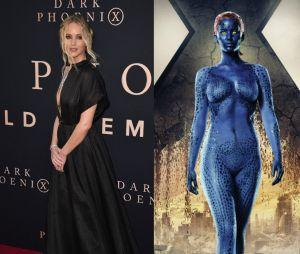 Jennifer Lawrence dans la vie VS en Mystique