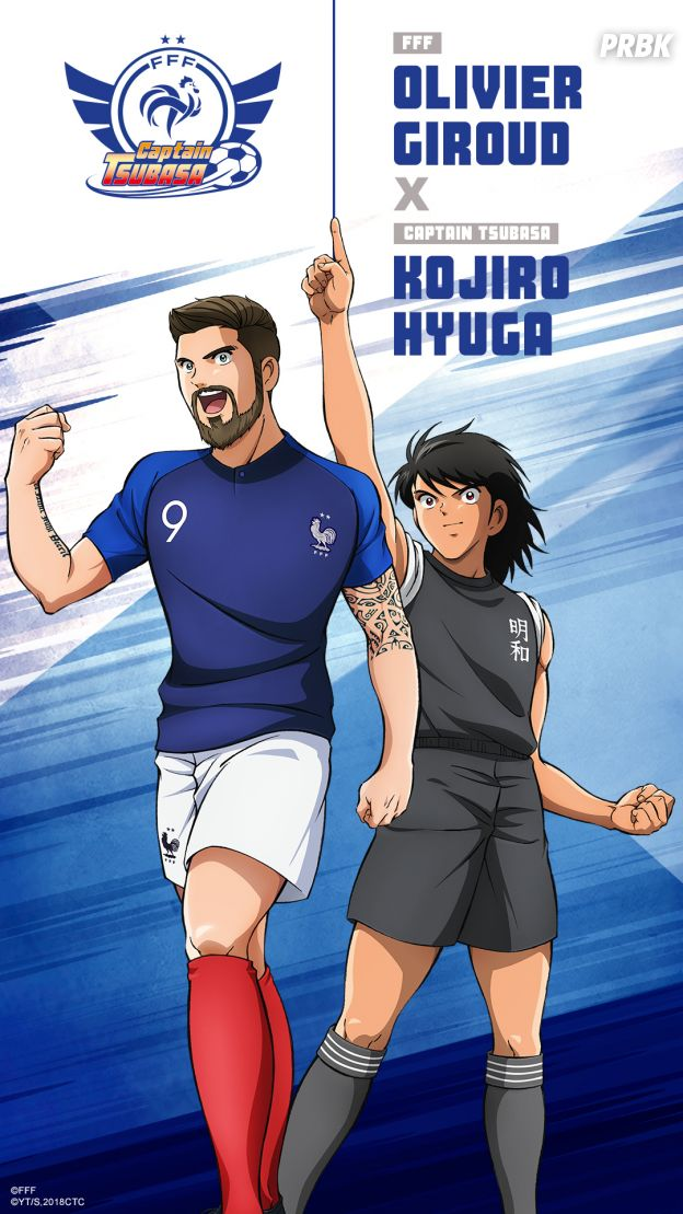 Captain Tsubasa s'associe à l'Equipe de France : Olivier Giroud
