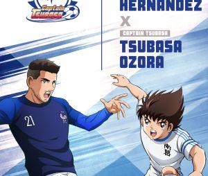 Captain Tsubasa s'associe à l'Equipe de France : Lucas Hernandez