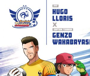 Captain Tsubasa s'associe à l'Equipe de France : Hugo Lloris
