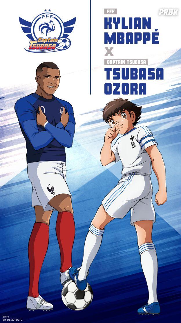 Captain Tsubasa s'associe à l'Equipe de France : Kylian Mbappé