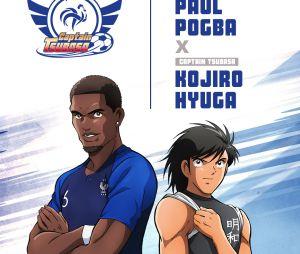 Captain Tsubasa s'associe à l'Equipe de France : Paul Pogba