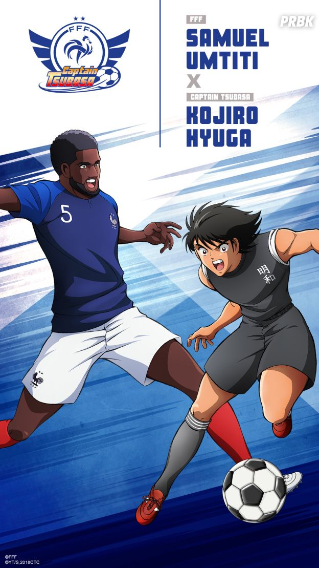 Captain Tsubasa s'associe à l'Equipe de France : Samuel Umtiti
