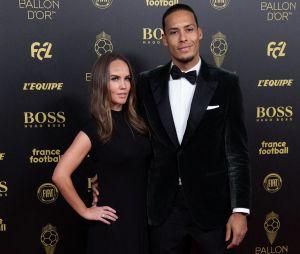 Virgil van Dijk et sa femme Rike Nooitgedagt à la cérémonie du Ballon d'Or 2019