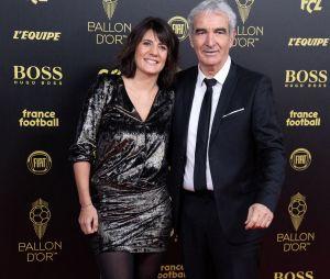 Estelle Denis et Raymond Domenech à la cérémonie du Ballon d'Or 2019