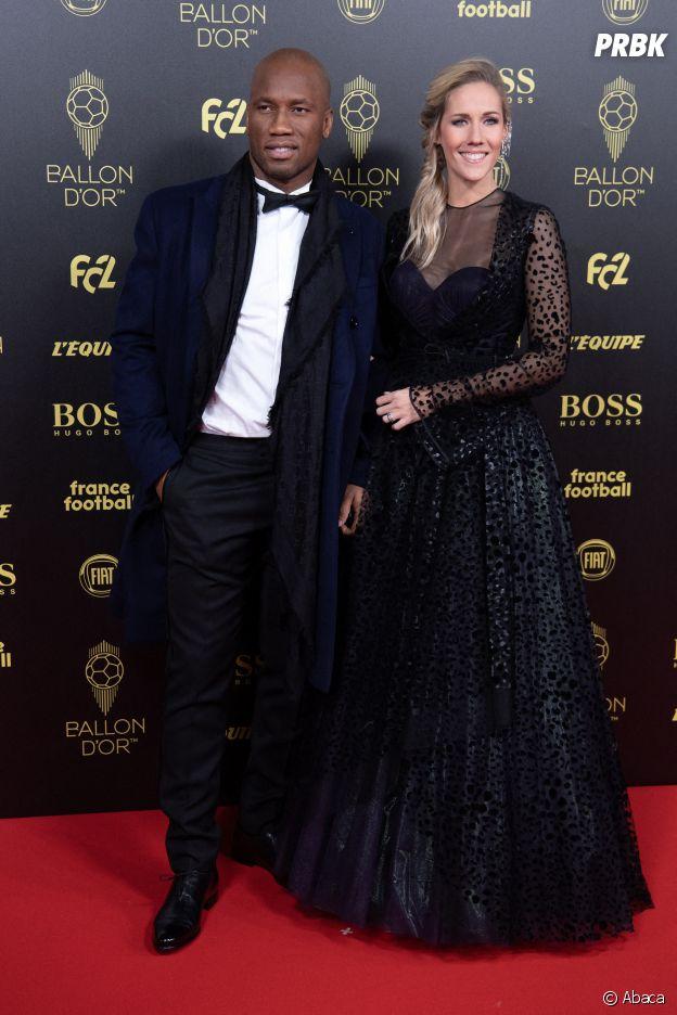 Didier Drogba et Sandy Heribert, animateurs de la cérémonie du Ballon d'Or 2019