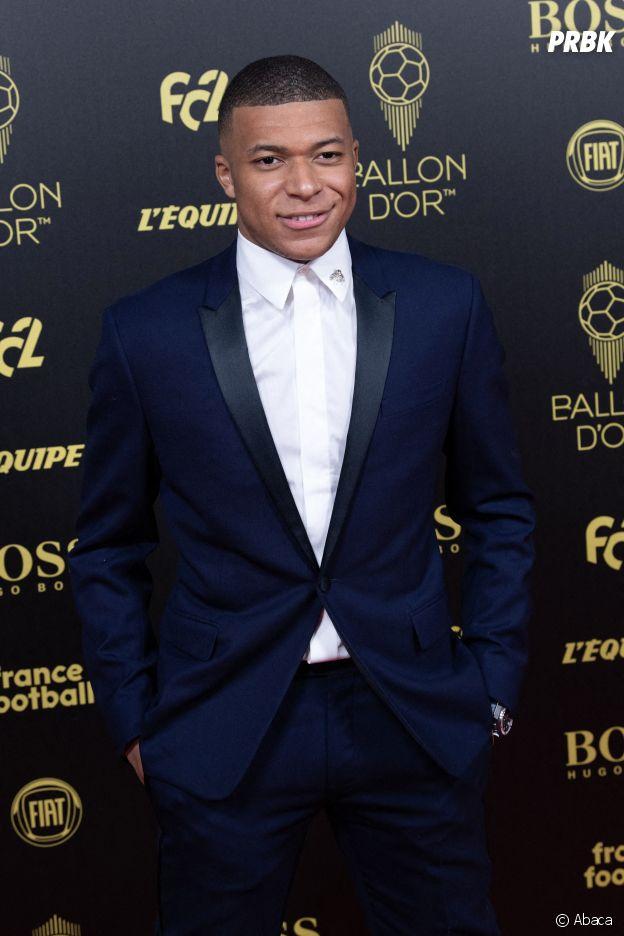 Kylian Mbappé à la cérémonie du Ballon d'Or 2019
