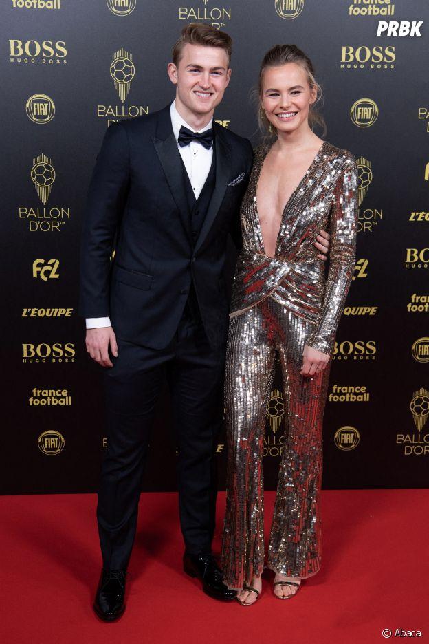 Matthijs de Ligt et sa petite amie à la cérémonie du Ballon d'Or 2019