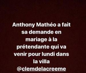 Anthony Matéo (La Villa des Coeurs Brisés 5) fiancé ?