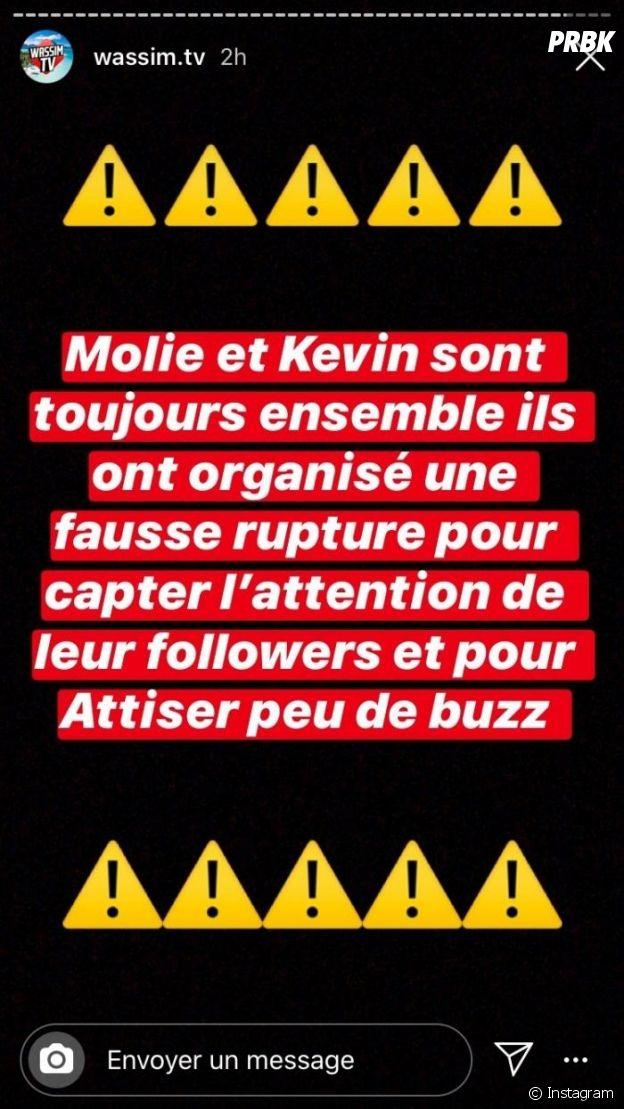 Kevin (La Villa des Coeurs Brisés 5) et Molie ont-ils inventé leur rupture ?