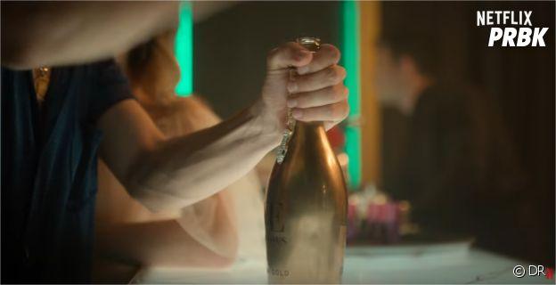 Elite saison 3 : une bouteille de champagne qui intrigue
