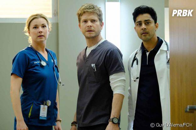 The Resident : Emily VanCamp, Matt Czuchry et Manish Dayal dans la saison 1