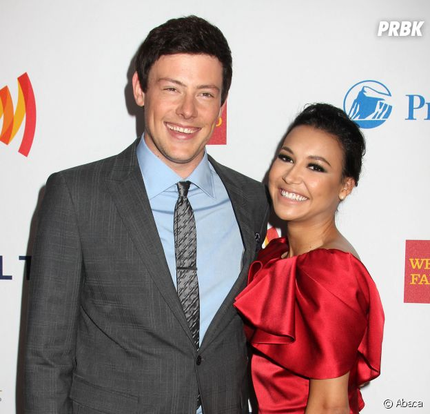 Glee : Cory Monteith et Naya Rivera lors d'une soirée