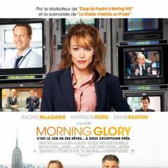 Harrison Ford, Rachel McAdams et Diane Keaton dans Morning Glory ... l'affiche française