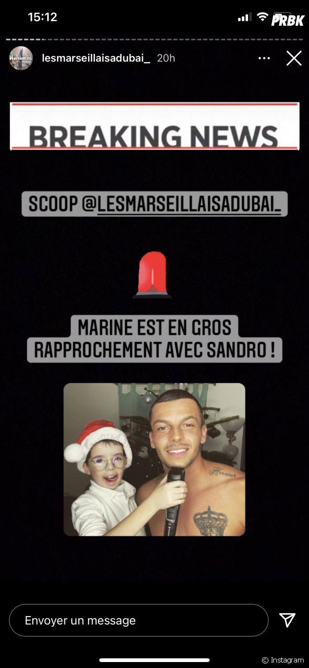 Les Marseillais à Dubaï : Marine El Himer en gros rapprochement avec Sandro ?