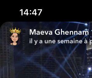 Maeva Ghennam et Manon Marsault au Nouvel An 2020
