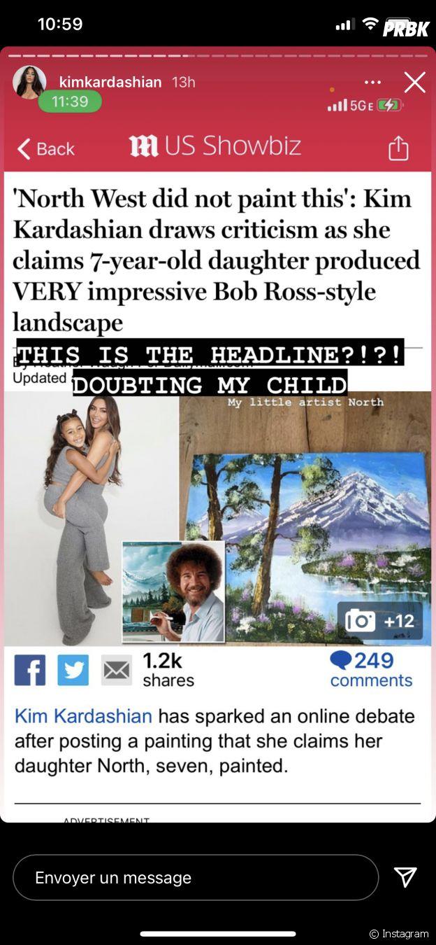Kim Kardashian prend la défense de sa fille North West