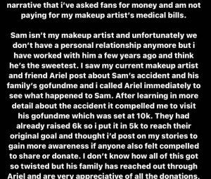 Kylie Jenner accusée de demander des sous à ses fans pour un maquilleur qu'elle connaît (qui a eu un accident de voiture et doit payer des frais médicaux) : elle répond au bad buzz