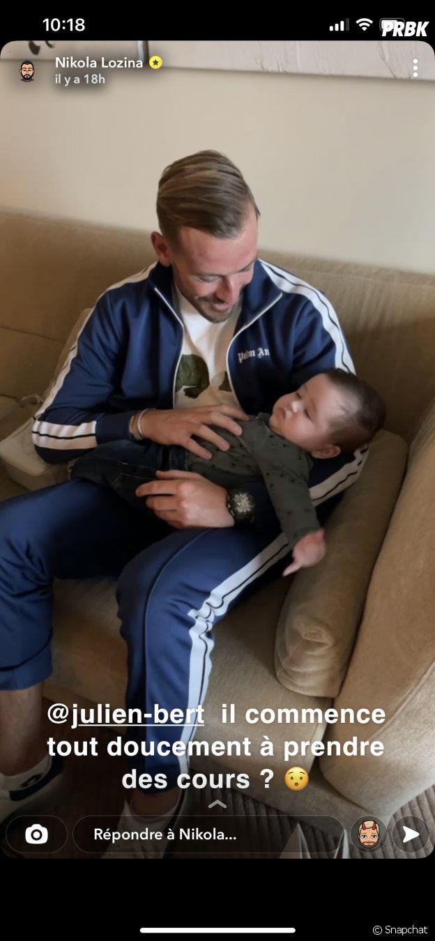 Julien Bert et Hilona de nouveau en couple ? Ils prennent la pose avec Zlatan, le fils de Nikola Lozina et Laura Lempika