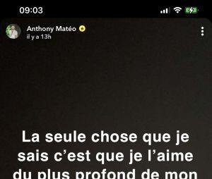 Anthony Matéo séparé de Clémence, il annonce leur rupture