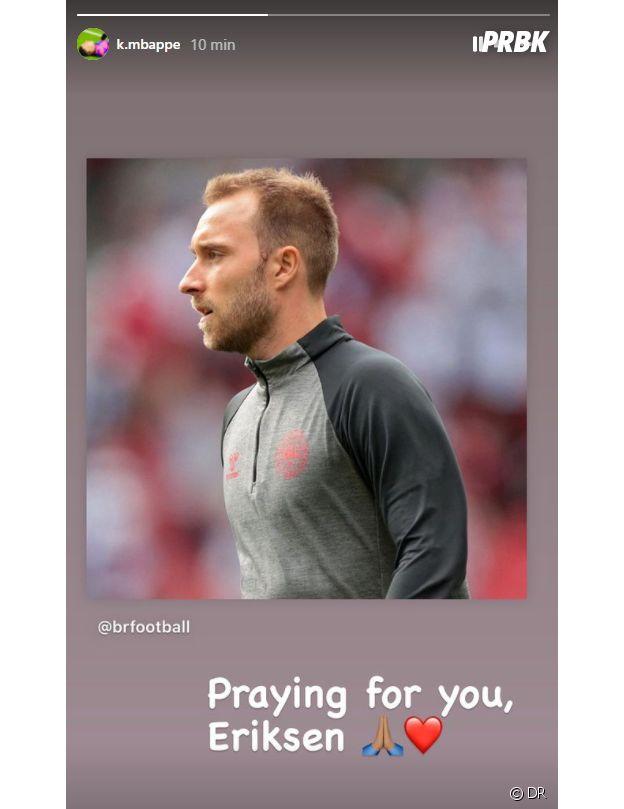 Christian Eriksen : l'hommage de Kylian Mbappé au joueur danois après son malaise cardiaque à l'Euro 2020