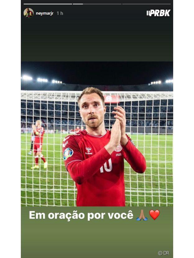 Christian Eriksen : l'hommage de Neymar au joueur danois après son malaise cardiaque à l'Euro 2020