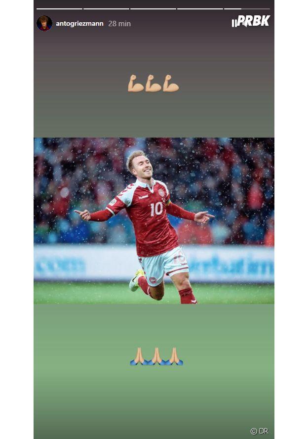 Christian Eriksen : l'hommage de Antoine Griezmann au joueur danois après son malaise cardiaque à l'Euro 2020