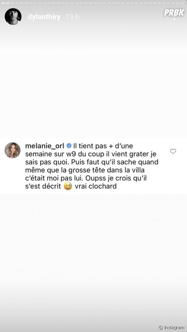 """Dylan Thiry clashe Mélanie Orl qui """"sort avec Greg pour faire Les Marseillais"""" : elle répond"""