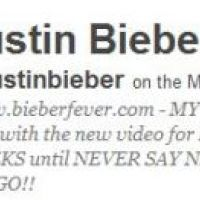 Justin Bieber ... En février 2011, il deviendra la star la plus suivie sur Twitter