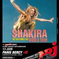 Shakira ... Un deuxième Bercy confirmé (officiel)