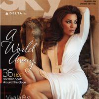 Eva Longoria ... La photo et la vidéo de son shooting gourmand pour Sky Delta