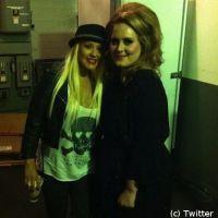 Christina Aguilera : Fan d'Adèle (PHOTO)