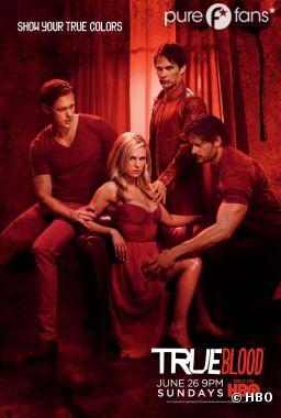 Poster de la saison 4 de True Blood