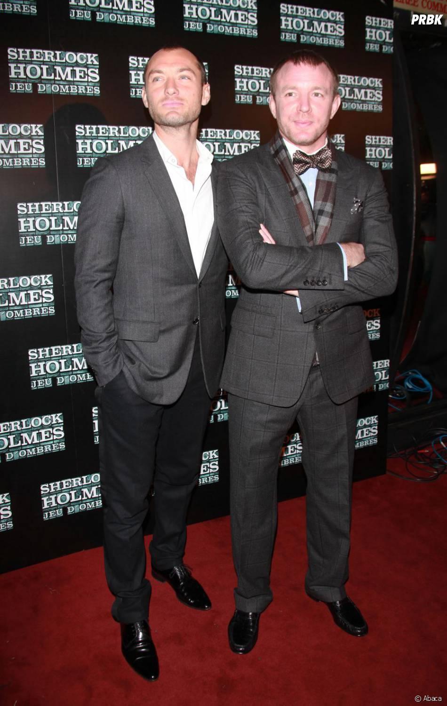 Jude Law et Guy Richie à Paris