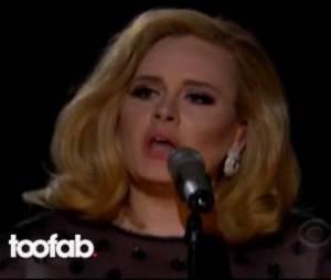 Un extrait d'Adele et son come-back magique aux Grammy 2012