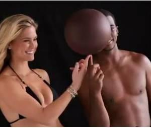 Bar Refaeli et Chris Paul en plein shooting pour la ligne de maillots de bain de Sports Illustrated