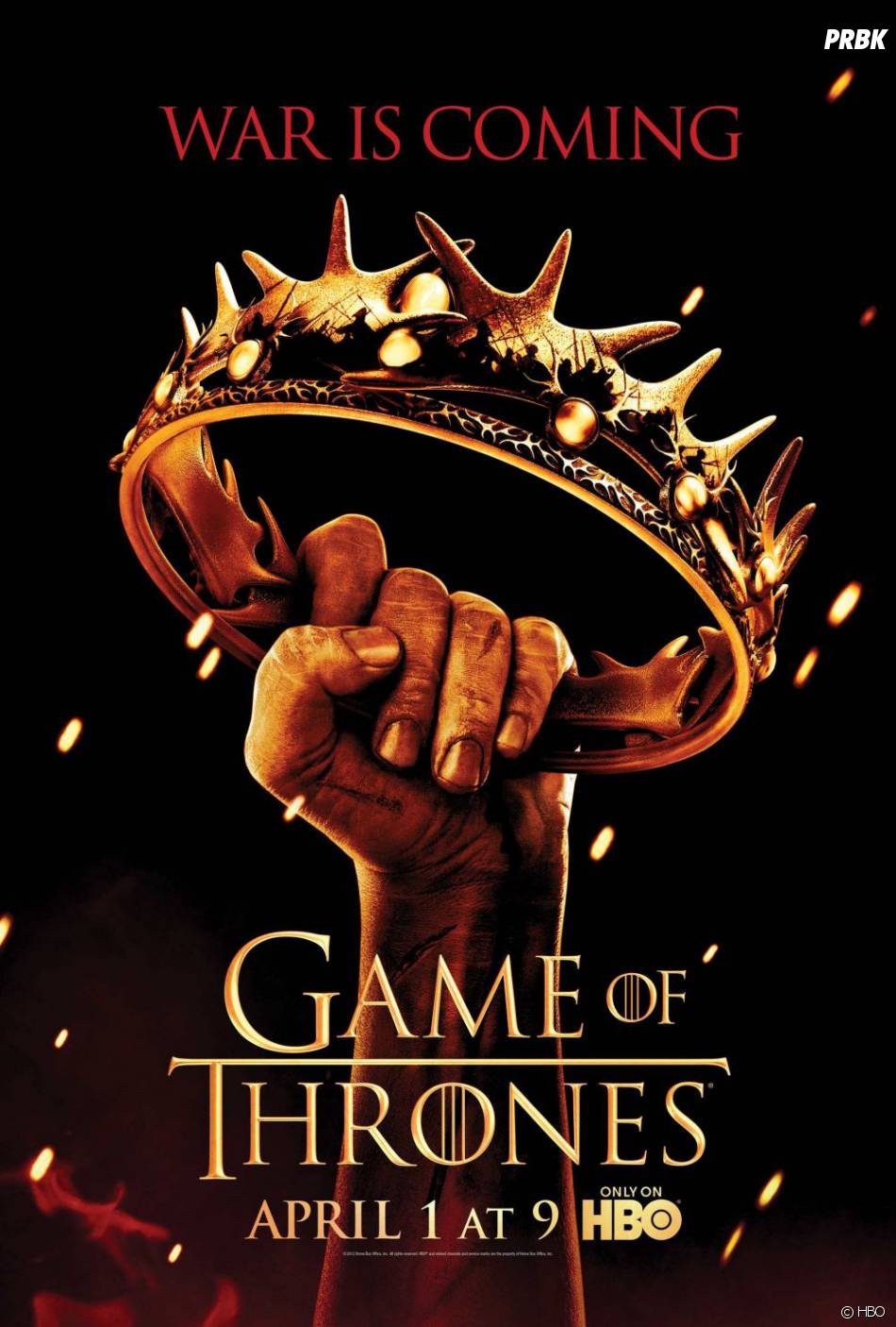Nouveau poster de la saison 2 de Game of Thrones