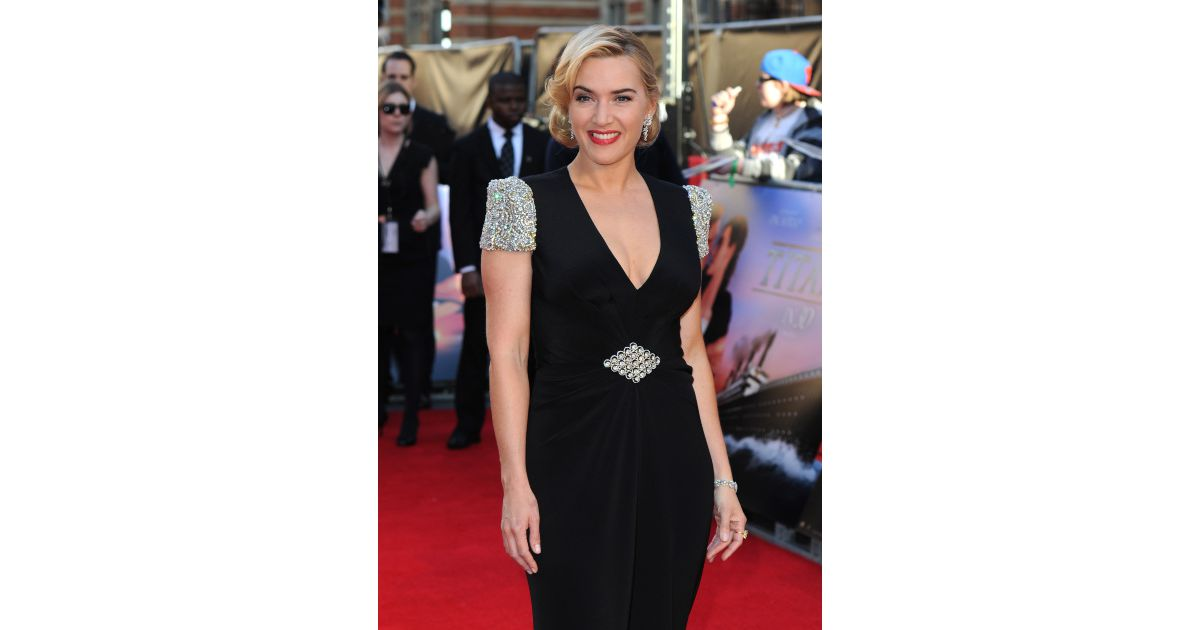 kate winslet lors de lavantpremi232re de titanic 3d 224