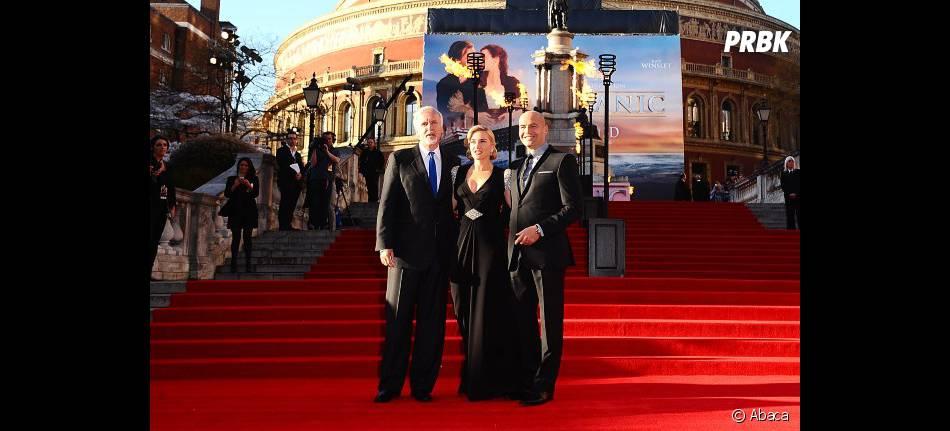 Kate Winslet, James Cameron et Billy Zane fêtent la sortie de Titanic 3D