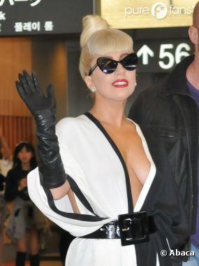 Lady Gaga lors d'un passage au Japon